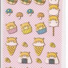 Japanese Sweet Hamsters Mini Sticker Sheet