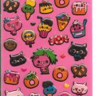 Kamio Vintage Sweets and Foods with Faces Sticker Sheet