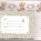 Japanese Bears and Flowers Letter Set