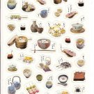 Kamio Panda Japanese Foods Sticker Sheet