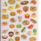 Kamio Happy Lunch Time Sparkly Sticker Sheet