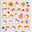 Japanese Hamsters and Apples Sticker Sheet