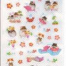 Q-Lia Hamu Beach Sparkly Sticker Sheet