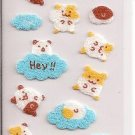 San-X Felt Hamsters and Clouds Sticker Sheet
