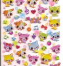Q-Lia Colorful Dogs Hard Epoxy Sticker Sheet