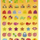 Kamio Lucky Japanese Objects and Charms Sparkly Sticker Sheet