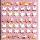 Kamio Milky Chan Bunnies Puffy Sticker Sheet