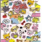 Crux Friends in Town Sparkly Sticker Sheet