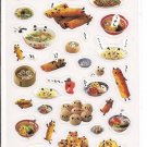 Kamio Dim Sum with Panda Faces Sticker Sheet