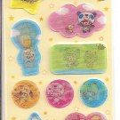 Kamio Animal Kids Holographic Sticker Sheet