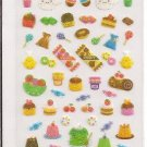 Season Paper Glittery Sweets and Desserts Sticker Sheet