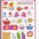 Korean Smiling Foods Mini Sticker Sheet