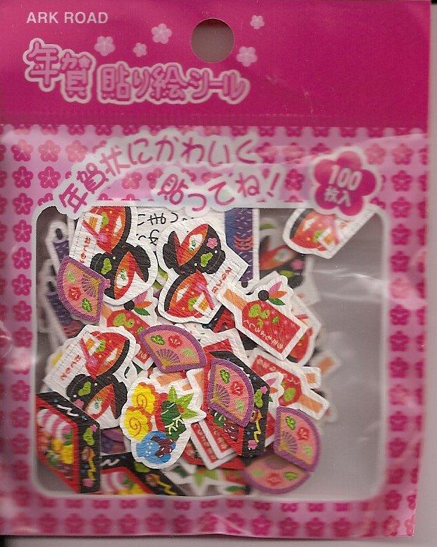 Ark Road Japanese New Year Sticker Sack