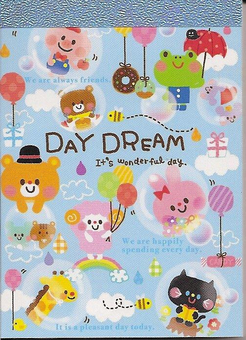 Q-Lia Daydream Blue Friends Mini Memo Pad