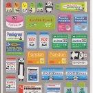 Kamio Pandaron Pharmacy Silver Sticker Sheets