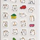 Kamio Playful Hamsters Sticker Sheet