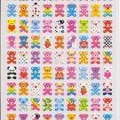 Kamio Petit Multicolored Bears Sticker Sheet