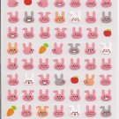 Kamio Petit Pink Bunnies Sticker Sheet