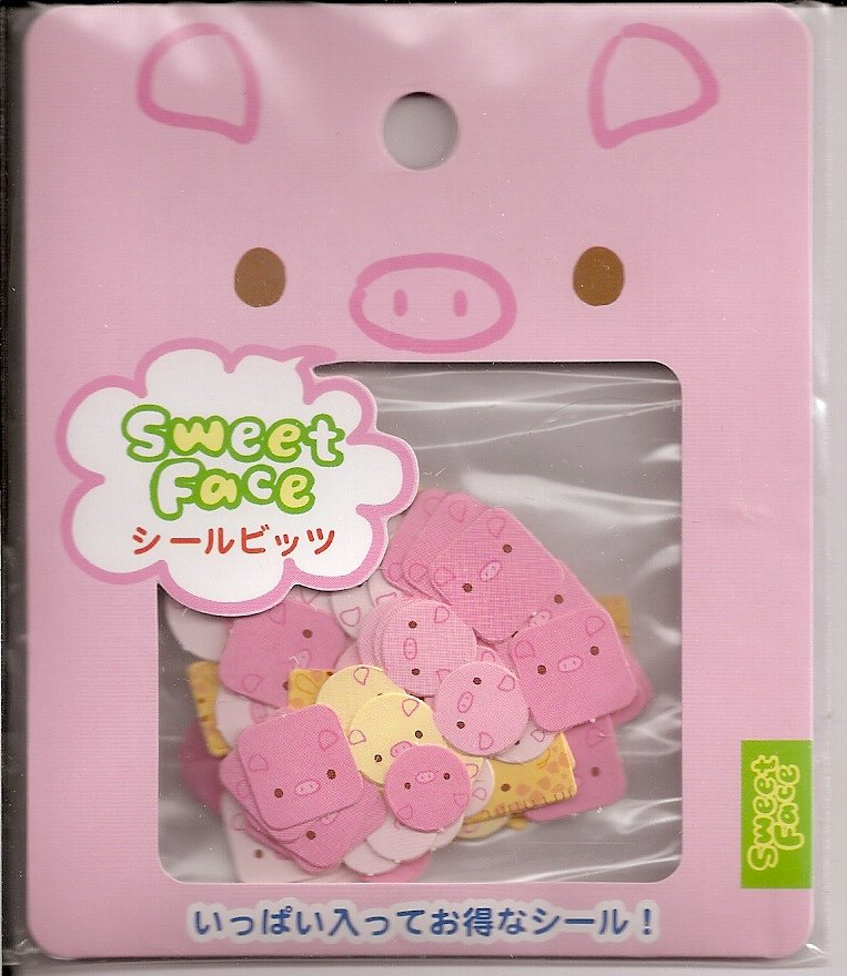 San-X Sweet Face Pig Sticker Sack