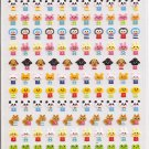Kamio Petit Mark Seal Mini Animals Sticker Sheet