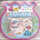 San-X Mametan Goldfish Pink Flowers Sticker Sack