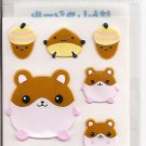 Lemon Co. Reflective Hamsters Mini Sticker Sheet