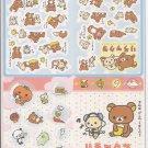 San-X Rilakkuma Bear and Friends Jumbosealdass Sticker Booklet #6