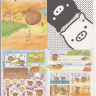 San-X Kogepan, Monokuro Boo, and Friends Jumbosealdass Sticker Booklet #12
