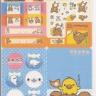San-X Rilakkuma Bear, Mamegoma, and Friends Jumbosealdass Sticker Booklet #13