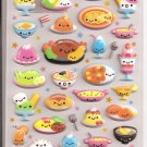 Kamio Smiling Foods Puffy Sticker Sheet
