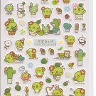San-X Sabo Kappa Blue Sticker Sheet #1