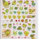 San-X Sabo Kappa Pink Sticker Sheet #2