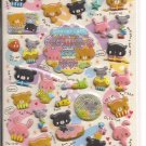 Crux Bear of Cake Puffy Glittery Sticker Sheet