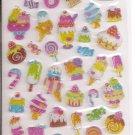 Kamio Candies and Desserts Hard Clear Epoxy Sticker Sheet