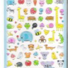 Q-Lia Kawaii Animals Hard Epoxy Sticker Sheet