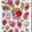 Kamio Smiling Cherries and Desserts Hard Epoxy Sticker Sheet