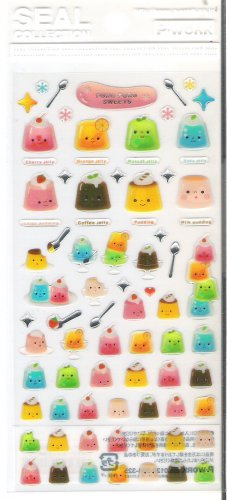 P Work Puru Puru Sweets Sticker Sheet