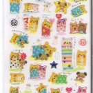 Kamio Pajama Bears Sparkly Sticker Sheet