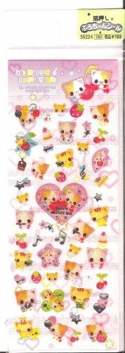 Crux Happy Melody Miu Sparkly Sticker Sheet