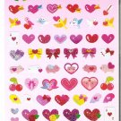 Kamio Hearts and Valentines Sparkly Sticker Sheet