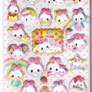 Kamio Sweet Rabi Rabi Pink Sparkly Puffy Sticker Sheet
