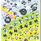 San-X Rolling Pandas, Bunnies, and Hearts Sparkly Sticker Sheet
