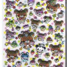 Q-Lia Bears, Pandas, and Desserts Shiny Puffy Sticker Sheet