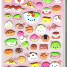 Kamio Smiling Japanese Desserts and Sweets Puffy Sticker Sheet