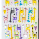 Mind Wave Colorful Giraffe Friends Hard Epoxy Sticker Sheet