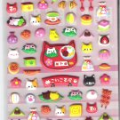 Kamio Nyan Cat Japanese Desserts and Sweets Puffy Sticker Sheet