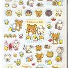 San-X Rilakkuma Bear Cafe and Friends Blue Sweets Sticker Sheet #2