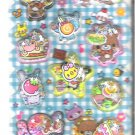 Q-Lia Bear&#39;s Park Sweets 3D Shakers Sticker Sheet