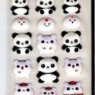 Lemon Co. Chinese Pandas and Hamsters Puffy Mini Sticker Sheet