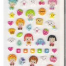 Korean Happy Friends Sparkly Mini Sticker Sheet